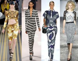 мода изкуство, Модерно облекло в стила на изкуството